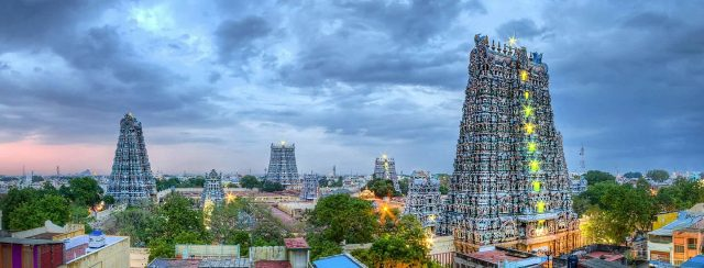 Meenakshi Amman Temple At Evening View, Madurai